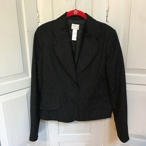 Emma James Black Paisly Pattern Blazer Jacket